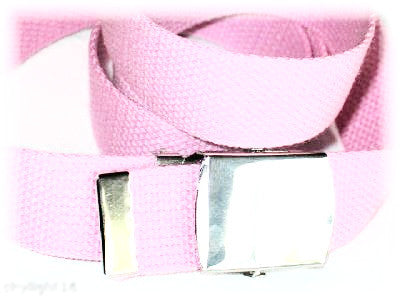 "Wholesale Military Web cotton Canvas Belt 30mm Wide PINK color 50"" Long 4000PK"