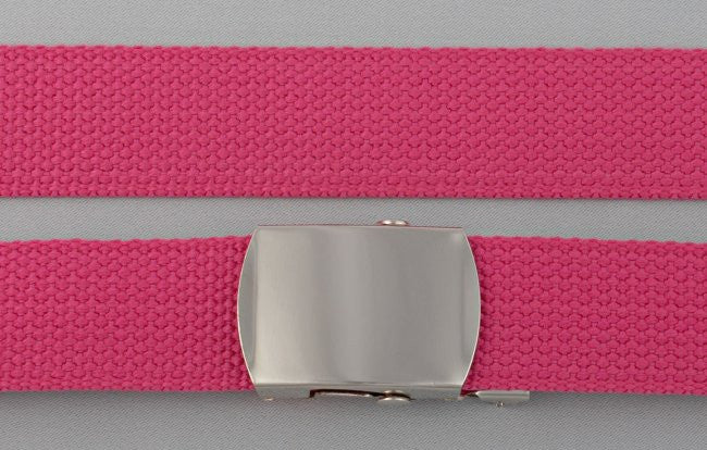 "Wholesale Military Web cotton Canvas Belt 30mm Wide FUSHIA color 56"" Long 4000FU"