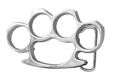 Silver or Black Enamel Brass Knuckles Belt Buckle Wholesale 131