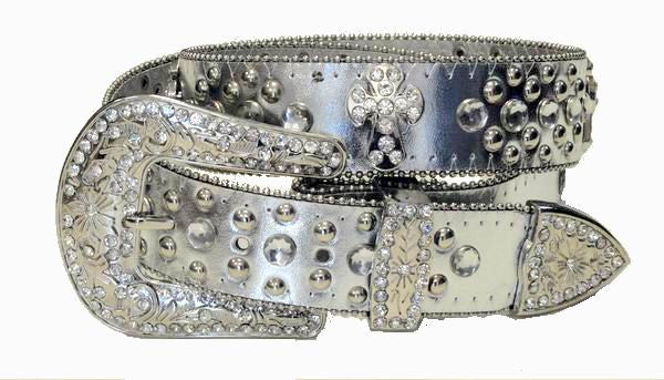 Western Rodeo Cross Religious Belt Wholesale Silver 50121SV