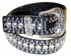 Western Rhinestone Studs Fashion Belt Wholesale 50117BK