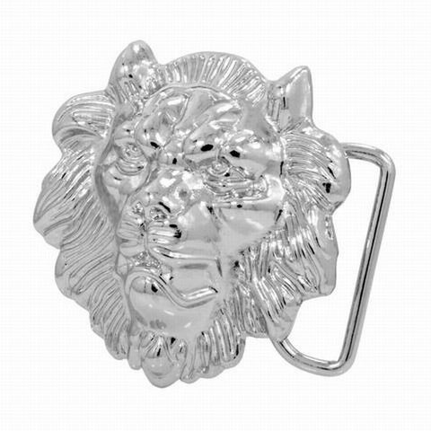 Wholesale Silver Roaring Lion Head Buckle African Rasta Unique Snap On 1171