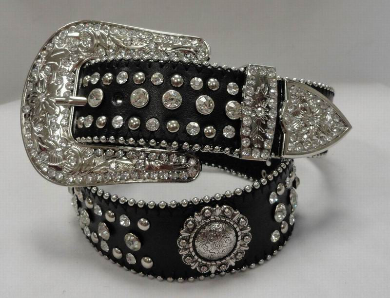 Wholesale Western RODEO BERRY RHINESTONE CONCHO Belts 50152