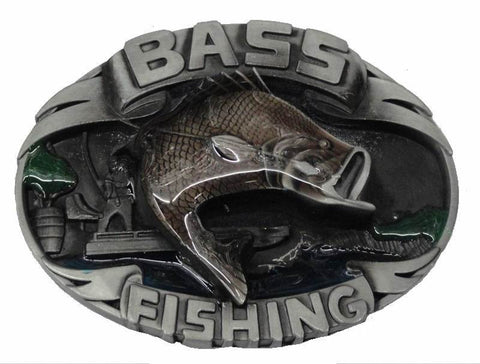 Wholesale Bass Fishing Belt Buckle 1490