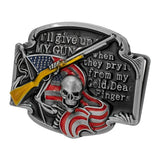 WHOLESALE I will give up my gun BELT BUCKLE 1124