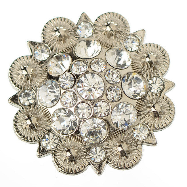 Wholesale Rhinestone clear Berry Conchos Leather Craft CH128CL 6 Pieces
