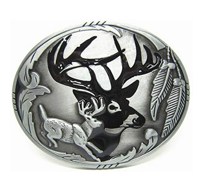 Western Deer Hunting Belt Buckle Wholesale 1545