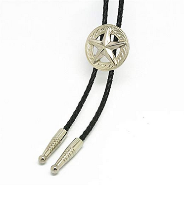 Western Cowboy Bolo Tie Rodeo Necktie Leather Western Texas Longhorn Leather