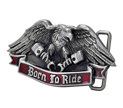 BORN TO RIDE REBEL REDNECK BELT BUCKLE 1503