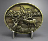 Wholesale Western Bow Hunting Deer Belt Buckle 1634