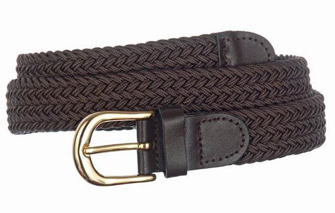 Wholesale Lady's Elastic Braided Stretch Golf Belt Brown Color 6001BN