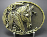 Wholesale Bronze or Black Rodeo Country Western Horse Belt Buckle 1648