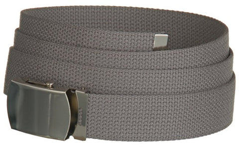 "Wholesale Military Web cotton Canvas Belt 30mm Wide GREY color 50"" Long 4000GY"