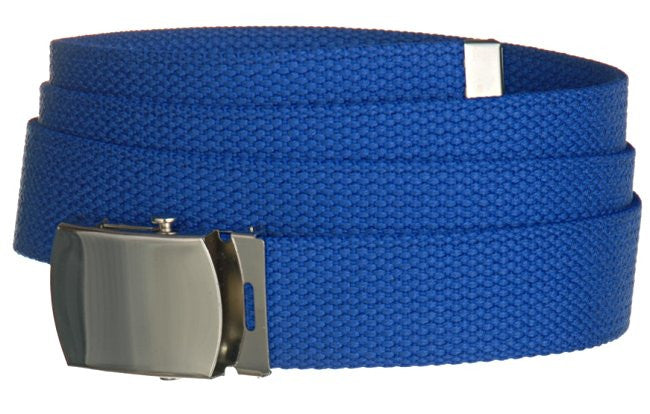 "Wholesale Military Web cotton Canvas Belt 30mm Wide ROYAL BLUE color 50"" Long 4000RB"