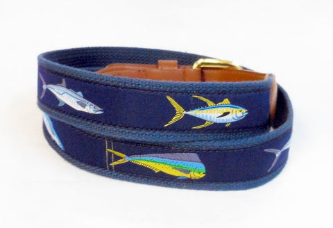 Dolphin Marlin Sports Fishing Leather Belt Wholesale 9802NB
