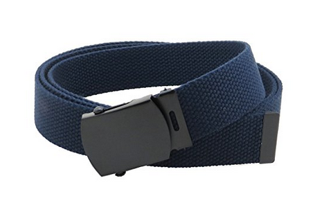 "Military Web Belt 1-1/4"" Wide Navy color 50"" Long 4000NB"