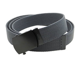 "Wholesale Military Web cotton Canvas Belt 1-1/4"" Wide GREY color 50"" Long 4000GY"