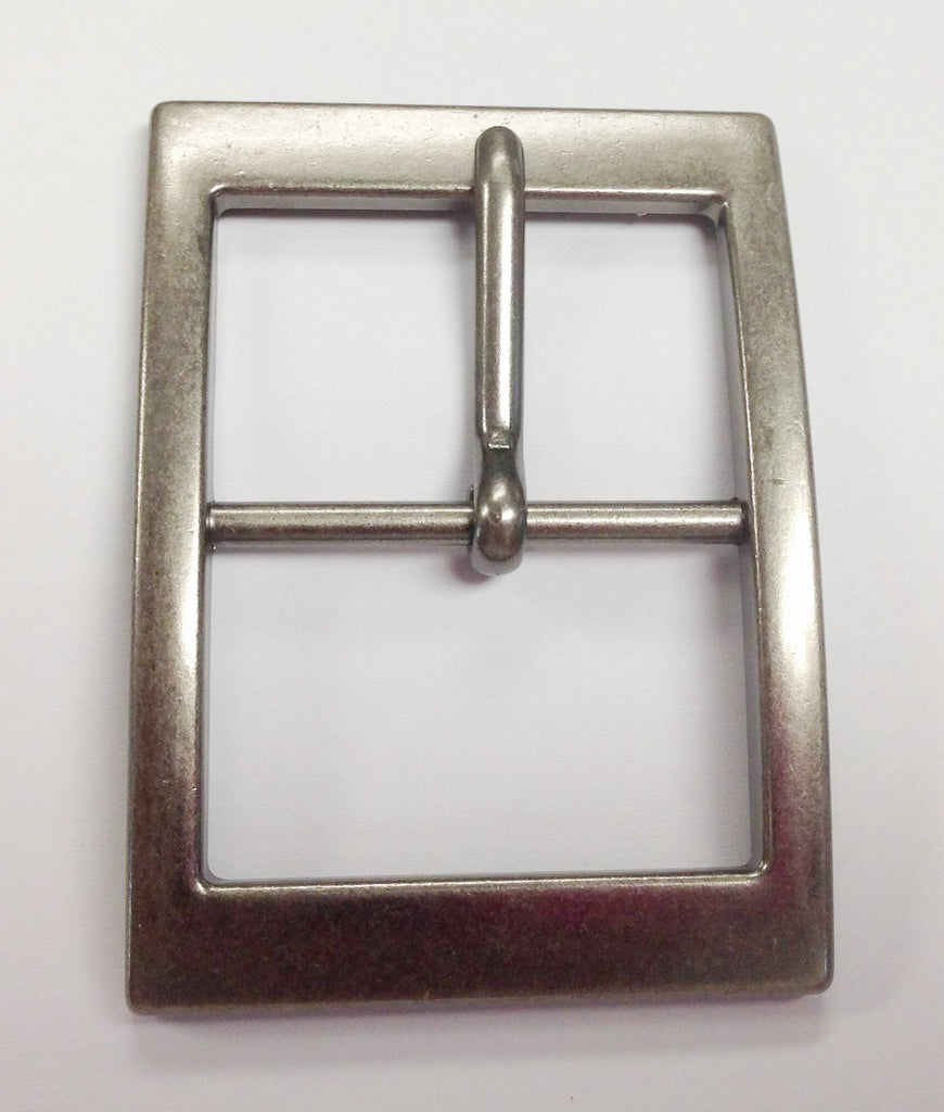 12 Pieces Wholesale Chrome Matt Polished Center Bar Buckle , Pin Belt Buckles, leather craft supply 12 pcs log BU2972