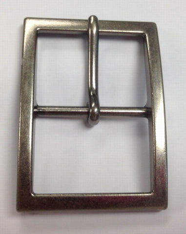 12 Pieces Wholesale Chrome Matt Polished Center Bar Buckle , Pin Belt Buckles, leather craft supply BU009