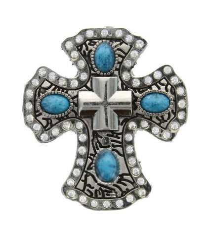 6 Craft concho ITALIAN CROSS CH141