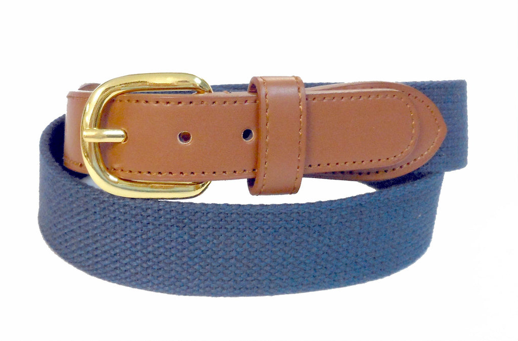 Navy color web belt for men