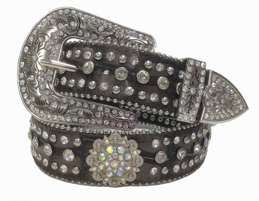 Wholesale RHINESTONE Atlas Cowgirl Western Rhinestone Belt BROWN COLOR 50128GBN