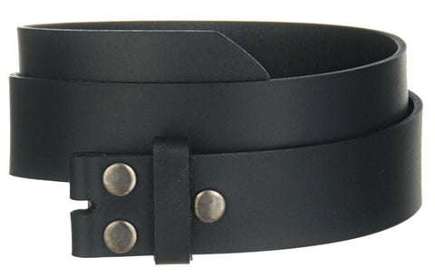 Men's Genuine Leather Jean Belt Wholesale Black leather belt WN33GBK