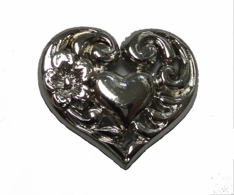 Wholesale Western Craft Brighton HEART leather craft CONCHO 6 pcs CH158
