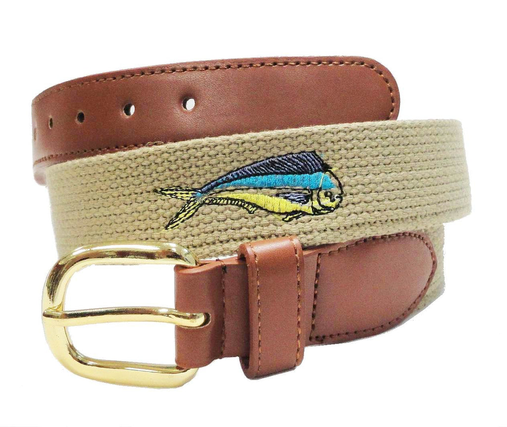 Fish leather belt for men