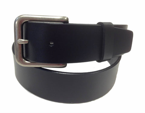 Wholesale BLACK Men's Italian Genuine Leather Belt BS40-3349BK