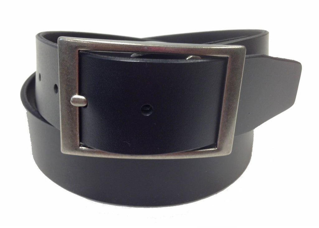 Wholesale BLACK Mens Italian Genuine Leather Belt BS40-5853BK