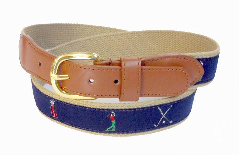 men golf belts navy color