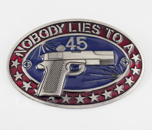 Nobody Lies to A Federal Agent Belt Buckle 1235