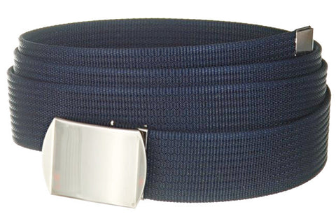 "Wholesale Military Web cotton Canvas Belt 30mm Wide Navy color 56"" Long 4000NB"