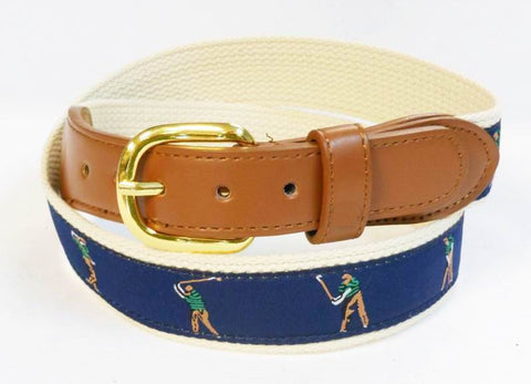 Pefect Swing PGA Sports Leather Cotton Golf Belt Wholesale 9801N