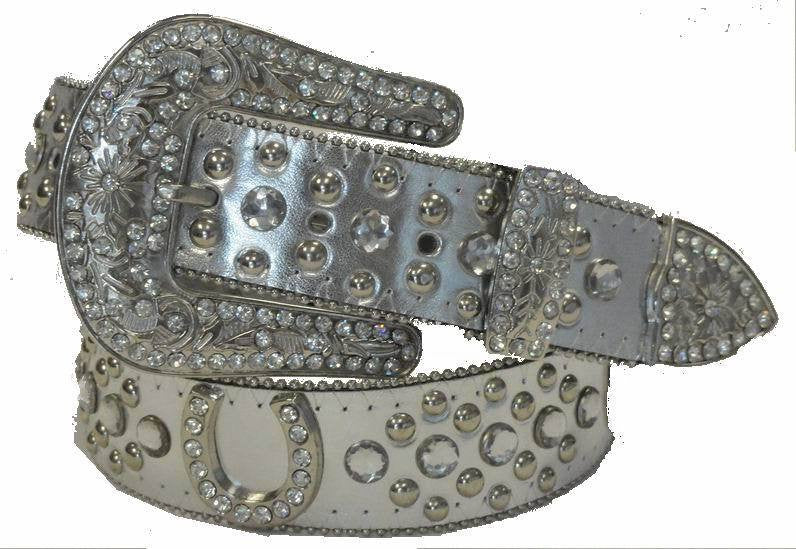 Wholesale Western Cowgirl LUCKY Horse Shoe Belt 50125SV