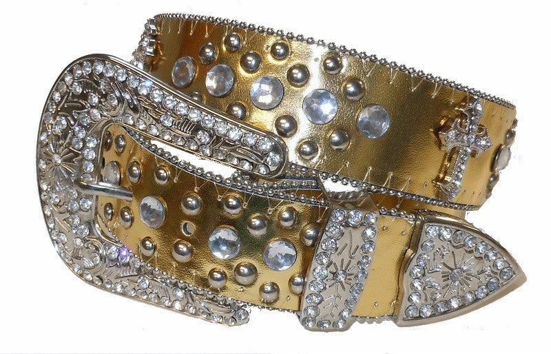 Wholesale Western Rodeo Cross Religious RHINESTONE Belt Wholesale 50127GD