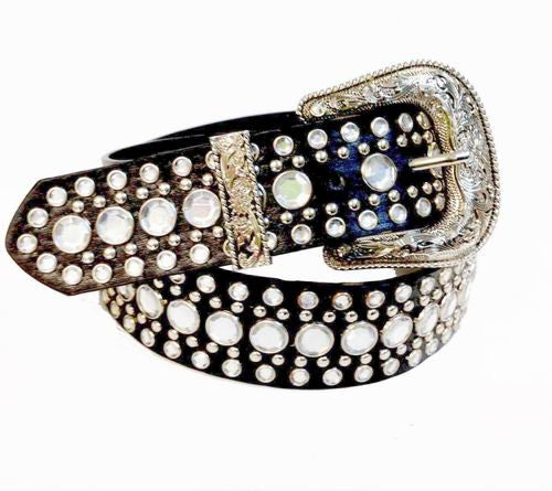 Western Rhinestone Studs Fashion Belt Wholesale 50117SBK