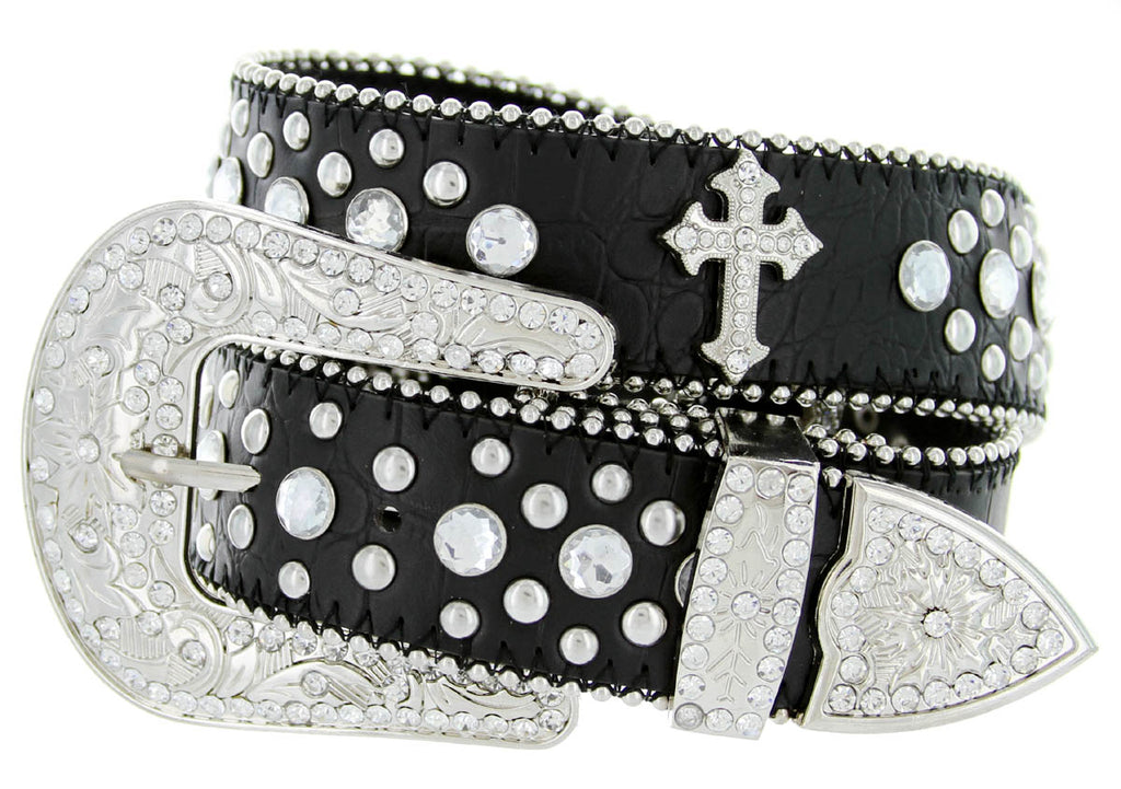 Western Rodeo Cross Religious RHINESTONE Belt Wholesale 50127BK