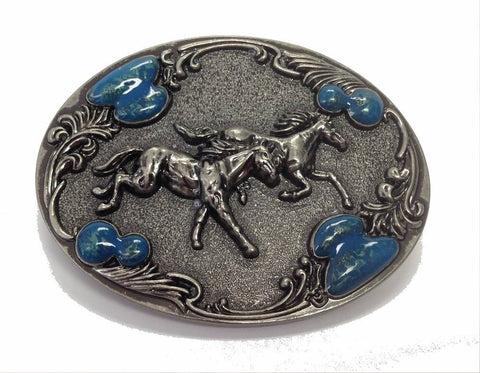 Wholesale Western Jumping Horses Belt Buckle 1630