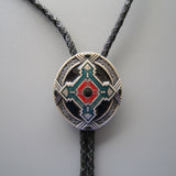 Western Cowboy Native American Indian Art Bolo Tie BT002