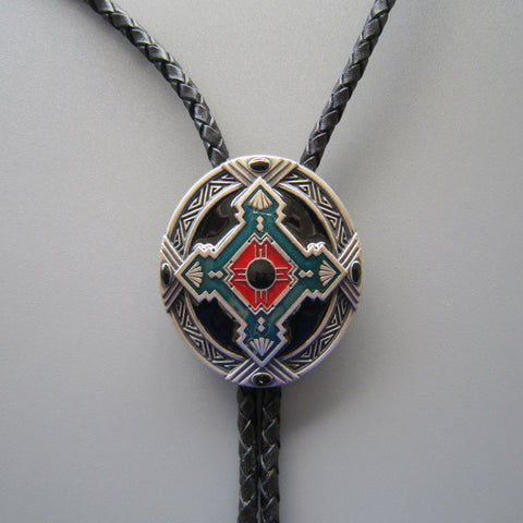 30fd925254cf ... Western Cowboy Native American Indian Art Bolo Tie BT002 ...