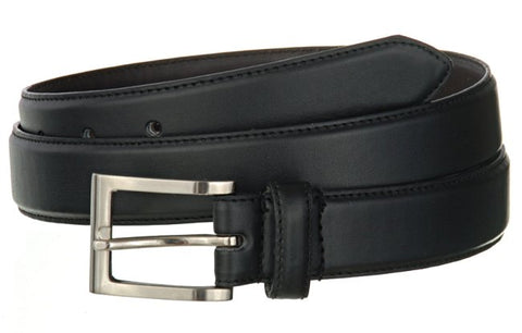 "Wholesale BLACK OR BROWN Mens 1-1/4"" Wide Leather Belt 2222"