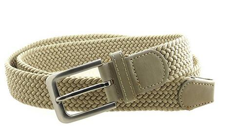 Wholesale Mens Elastic Belt, Wholesale Leather Braided Stretch Belt 32mm Wide 7001NBG