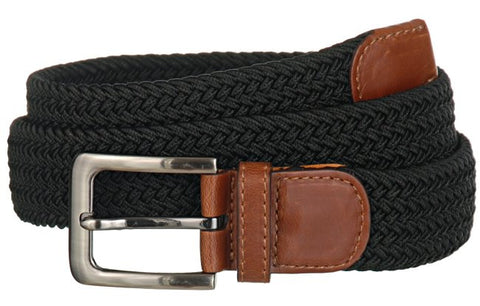 Wide Men's Leather Stretch Belt Wholesale 7001GBK