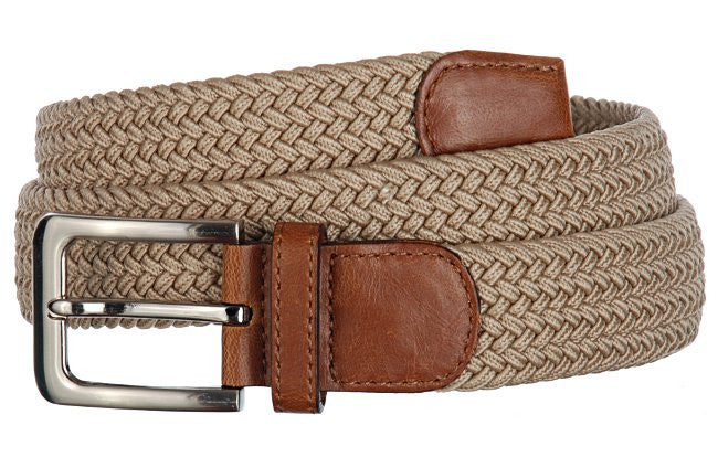 Wide Men's Leather Stretch Belt Wholesale 7001GSD