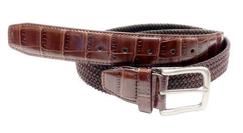 Mens elastic Wide stretch belt wholesale
