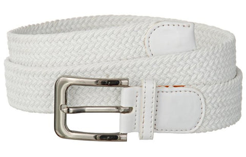 Wholesale Mens Elastic Belt white belt