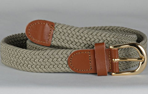 Wholesale Lady's Elastic Braided Stretch Golf Belt KHAKI Color 6001KH