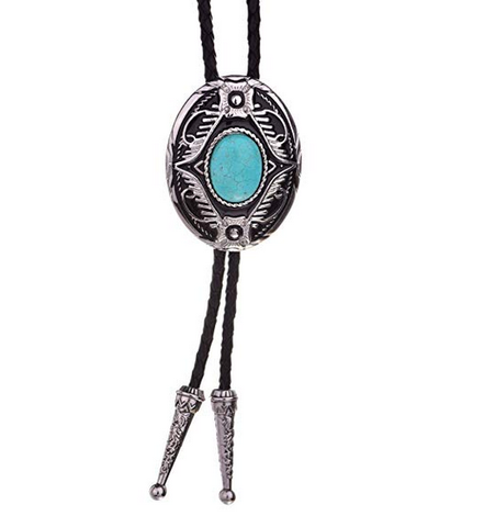 Turquoise American Western Cowboy Bolo Tie  BT0018
